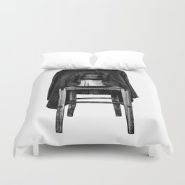 rustic chair Duvet Cover