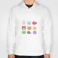 stickers Hoodies featuring Animal Stickers by xiuen