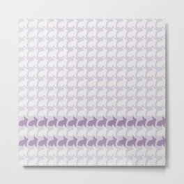 White Rabbits, White Rabbits, White Rabbits........purple Metal Print