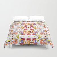 fairy tale Duvet Covers featuring Russian winter fairy tale by ARTDROID