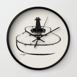 Guitar by Kathy Morton Stanion Wall Clock