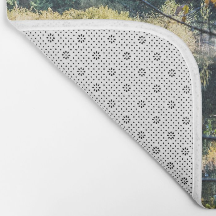 French lake in autumn Bath Mat