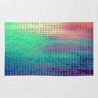 pixel art Area & Throw Rugs featuring piXel by 2sweet4words Designs