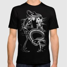 ZAPATEADO ON BLACK LARGE Black Mens Fitted Tee