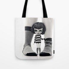 We love Socks in BW stripes Tote Bag