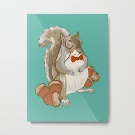 Dapper Squirrel  Metal Print