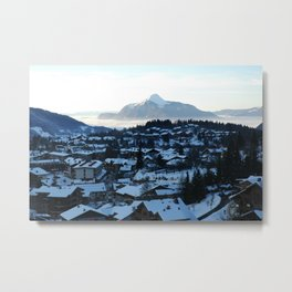 Twilight in the Ski Resort Metal Print
