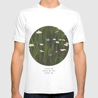 Daisy Days MEDIUM White Mens Fitted Tee