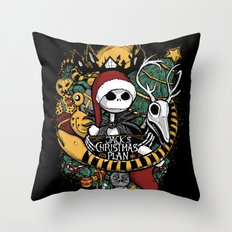 Jack's Christmas Plan Throw Pillow