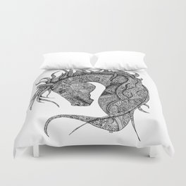 Zentangle Horse Artwork Duvet Cover