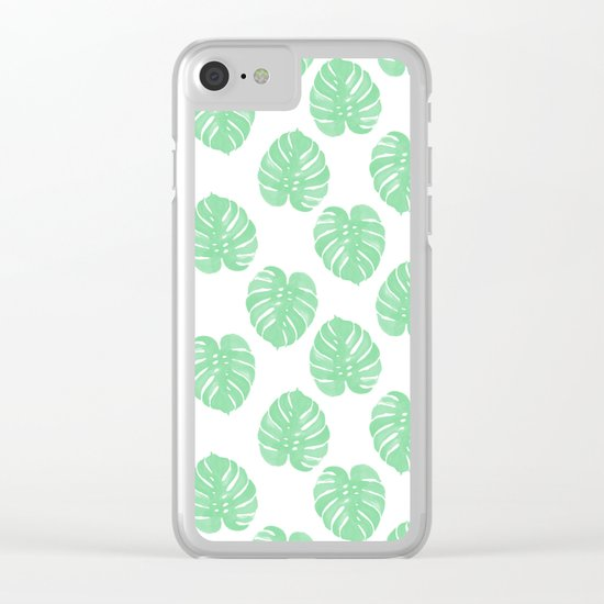 Palm Leaf indoor house plant hipster cheese plant palm leaf tropical vibes Clear iPhone Case