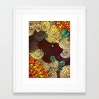 earth Framed Art Prints featuring Earth by DuckyB