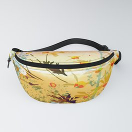flowers at the beach Fanny Pack