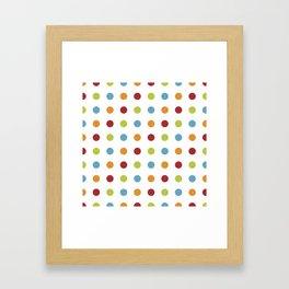 Polka Dot Pattern Framed Art Print