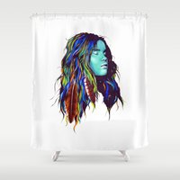 dreamer Shower Curtains featuring Dreamer by Peter Fulop
