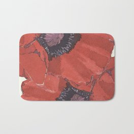 Poppies for remembrance- the cost for peace Bath Mat