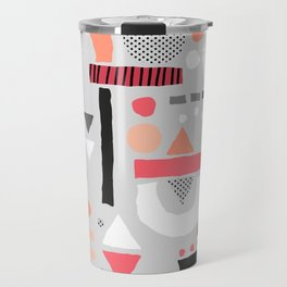 Tiny Inventor - Pink with Grey Travel Mug
