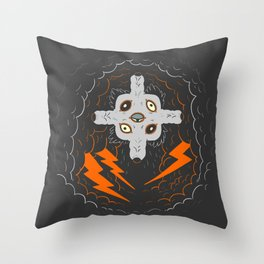 Sit, stay. Throw Pillow