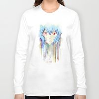 evangelion Long Sleeve T-shirts featuring Rei Ayanami from Evangelion Digital Mixed Media by Barrett Biggers