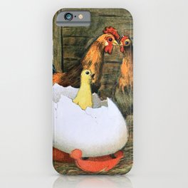 Baby Chick, Rooster, Hen iPhone Case