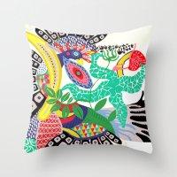 rio de janeiro Throw Pillows featuring RIO DE JANEIRO 001 by Maca Salazar