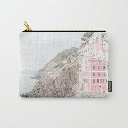 Positano, Italy pink-peach-white travel photography in hd. Carry-All Pouch