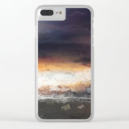 Sky, Ocean and birds Clear iPhone Case
