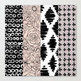 Vertical Stripe Patchwork Pattern Canvas Print