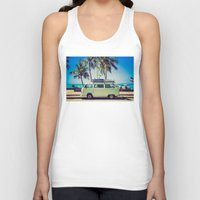 vw bus Tank Tops featuring VW Bus Beach Vacation by Limitless Design