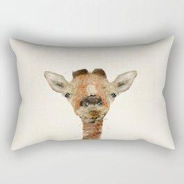 little giraffe Rectangular Pillow