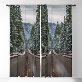 Winter Road Trip - Pacific Northwest Nature Photography Blackout Curtain