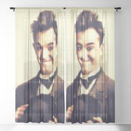 Stan Laurel, Hollywood Legend Sheer Curtain