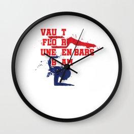 Gymnastics Gymnast Dancing Balancing Acrobats Vault Love Vaulting Gifts Wall Clock