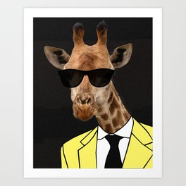 I look great in yellow, right? Art Print