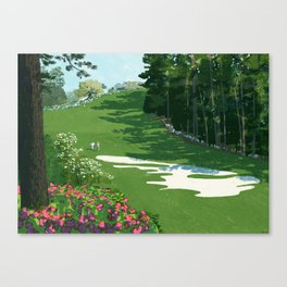 2013 Masters the 10th hole at the Augusta National Golf Club Canvas Print
