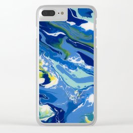 Caribbean Fire Blue (01) Clear iPhone Case