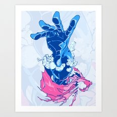 hand from hell Art Print