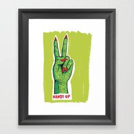 Hands Up Framed Art Print