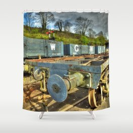 Conflat Wagon Shower Curtain