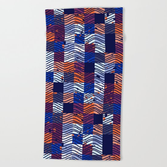 Square Wave Beach Towel