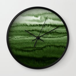 WITHIN THE TIDES FOREST GREEN by Monika Strigel Wall Clock