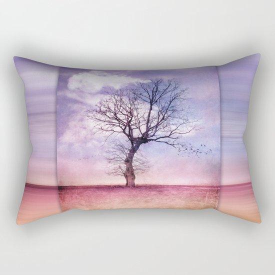 ATMOSPHERIC TREE   Early Spring Rectangular Pillow