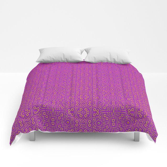 Magenta Tribal Pattern Comforters