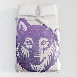 Galaxy Wolf Comforters