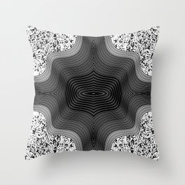Black and White Contemporary Geo Abstract Art Throw Pillow