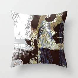 whispered cries can no longer hush Throw Pillow