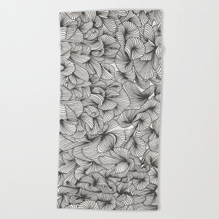 Black Inklings Beach Towel