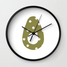 Bunny Avocado Wall Clock