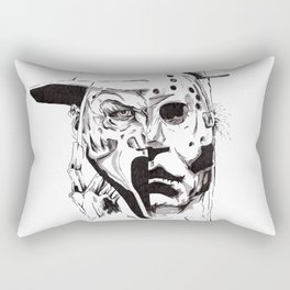 80's Horror Icons Inktober Drawing Rectangular Pillow