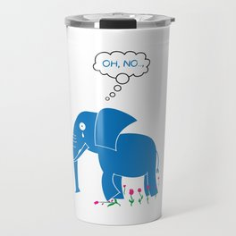Sad Elephant Travel Mug